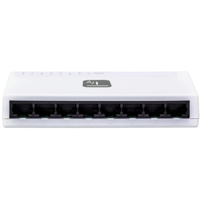 Switch Hub 10/100 Mbps Fast Ethernet 8 Porte - Techly - I-SWHUB-080TY-4