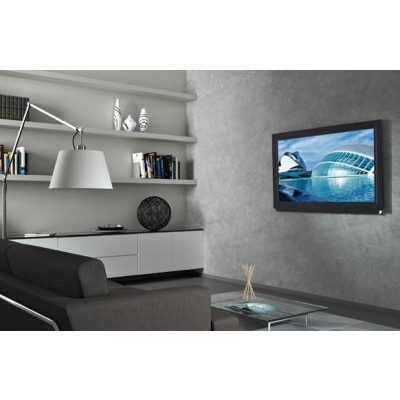 "Staffa Muro Fissa Slim con Distanziali TV LED LCD 40-65"" Nero - Techly - ICA-PLB 139L-4"