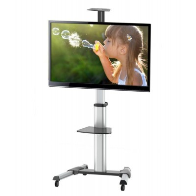 "Supporto a Pavimento con una Mensola Trolley TV LCD/LED/Plasma 37-70"" - Techly - ICA-TR15-2"