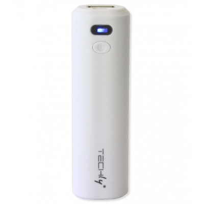 Carica Batterie Power Bank per Smartphone 2200 mAh USB Bianco - Techly - I-CHARGE-2200TY-2
