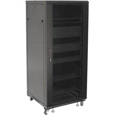 "Armadio Rack 19"" 600x600 27U per Audio Video Nero - Techly Professional - I-CASE AV-2127BKTY-1"