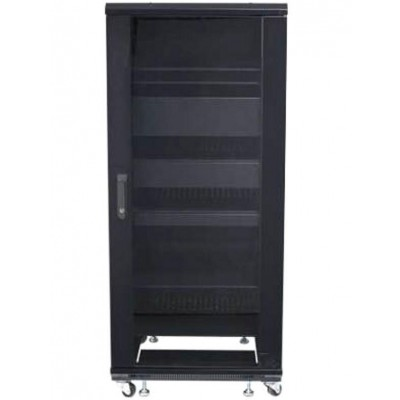 "Armadio Rack 19"" 600x600 27U per Audio Video Nero - Techly Professional - I-CASE AV-2127BKTY-3"
