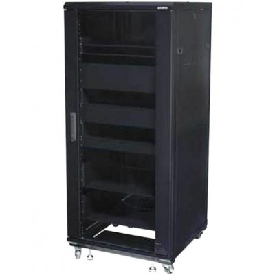 "Armadio Rack 19"" 600x600 27U per Audio Video Nero - Techly Professional - I-CASE AV-2127BKTY-2"