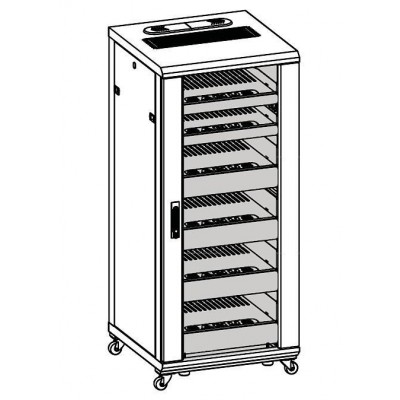 "Armadio Rack 19"" 600x600 27U per Audio Video Nero - Techly Professional - I-CASE AV-2127BKTY-4"
