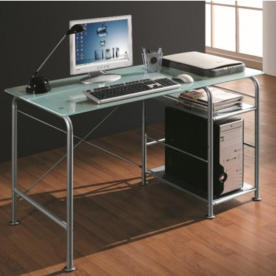 Scrivania per PC Office in Metallo e Vetro Satinato - Techly - ICA-TB 3349-1