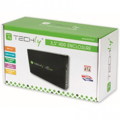 "Box esterno HDD SATA 3.5"" USB 3.0  - Techly - I-CASE SU3-35-1"