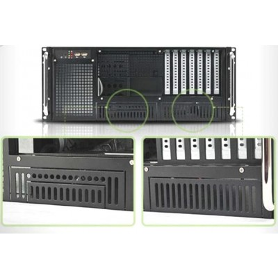 "Chassis Industriale Rack 19""/Desktop 4U Ultra Compatto Nero - Techly - I-CASE MP-P4HX-BLK6-6"