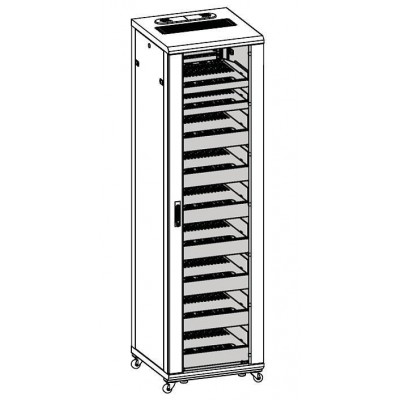 "Armadio Rack 19"" 600x600 44U per Audio Video Nero - Techly Professional - I-CASE AV-2144BKTY-4"