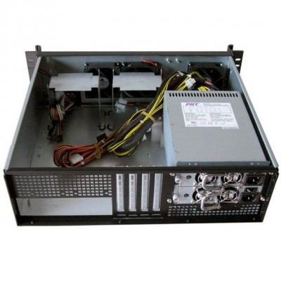 "Chassis Industriale da Rack 19"" 3U Ultra Compatto Nero - Techly - I-CASE IPC-338-4"