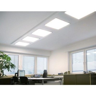 Pannello Luminoso a LED 60 x 60 cm 40W Bianco Neutro - Techly - I-LED-PAN-40W-NWA-6