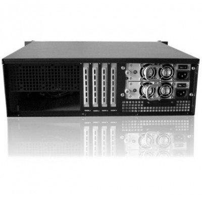 "Chassis Industriale da Rack 19"" 3U Ultra Compatto Nero - Techly - I-CASE IPC-338-5"