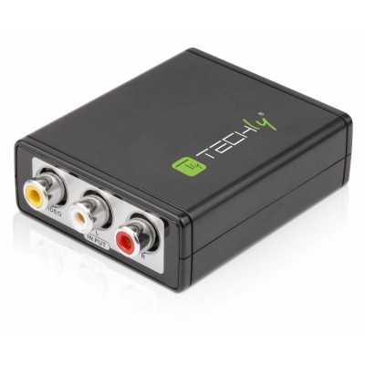 Mini Convertitore da Video Composito e Audio Stereo a HDMI - Techly - IDATA SPDIF-6E-1
