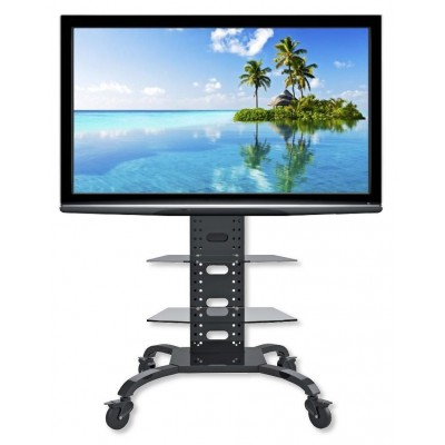 "Supporto a Pavimento con 2 Mensole Trolley TV LCD/LED/Plasma 32-70"" - Techly - ICA-TR8-1"