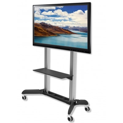 "Supporto a Pavimento con Mensola Trolley TV LCD/LED/Plasma 32-70"" - Techly - ICA-TR9-2"