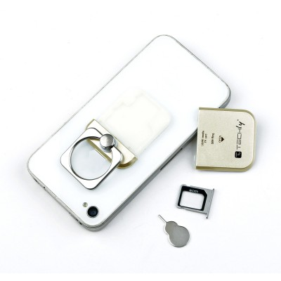 Anello e Supporto per Smartphone Oro - Techly - I-SMART-RINGG-9
