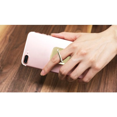 Anello e Supporto per Smartphone Oro - Techly - I-SMART-RINGG-10