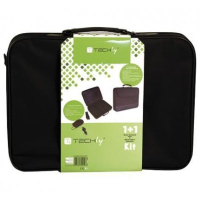Kit borsa per Notebook 15.6'' e mouse ottico - Techly - ICA-NB5 M1001-SET-1