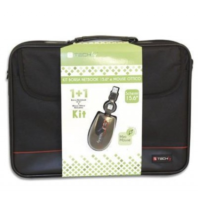 Kit borsa per Notebook 15.6'' e mouse ottico - Techly - ICA-NB5 M1001-SET-0