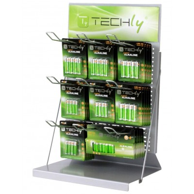 Espositore Stand da Banco per Batterie 50cm - Techly - I-TLY-BATTERY1-1