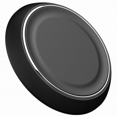 Caricabatterie Wireless Qi Base Circolare per Smartphone Nero - Techly Np - I-CHARGE-WRLB-5