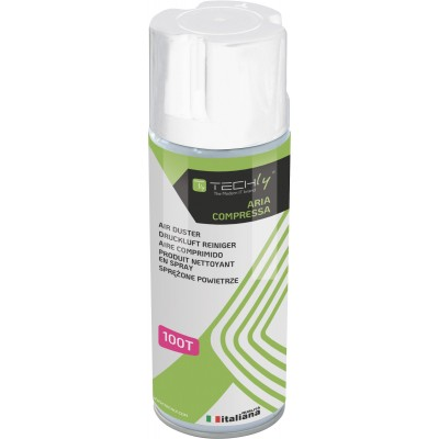 Bomboletta Aria Compressa Spray di Pulizia 400ml - Techly - ICA-CA 100T-0