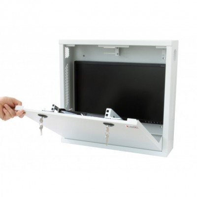 Box di sicurezza per DVR e sistemi di videosorveglianza Bianco con Anti-intrusione  - Techly Professional - ICRLIM08AI-4