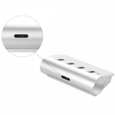 Hub USB 3.0 Super Speed 4 Porte A Femmina in Alluminio - Techly - IUSB3-TLY430-5