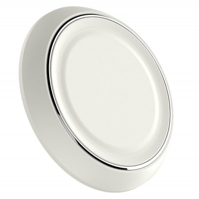 Caricabatterie Wireless Qi Base Circolare per Smartphone Bianco - Techly Np - I-CHARGE-WRLW-4