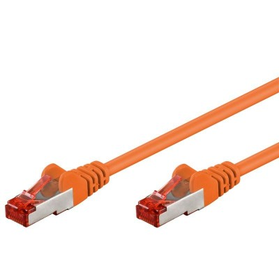 Cavo di rete Patch in CCA Schermato Cat. 6 Arancio F/UTP 0,5 m Bulk - Techly Professional - ICOC CCA6F-005-OR-1