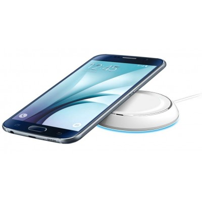 Caricabatterie Wireless Qi Base Circolare per Smartphone Bianco - Techly Np - I-CHARGE-WRLW-1