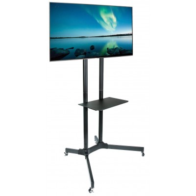 "Supporto a Pavimento con Mensola Trolley TV LCD/LED/Plasma 30-65"" - Techly - ICA-TR6-3"