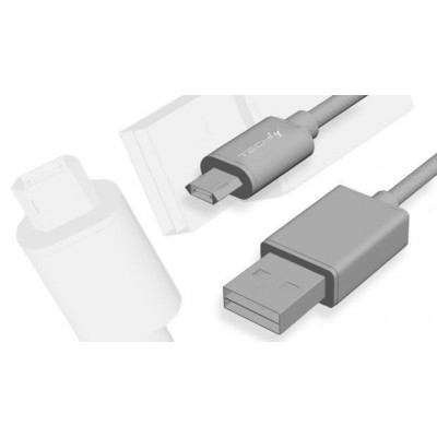 Cavo High Speed USB a MicroUSB Reversibile 0,6m Nero - Techly - ICOC MUSB-A-006S-2