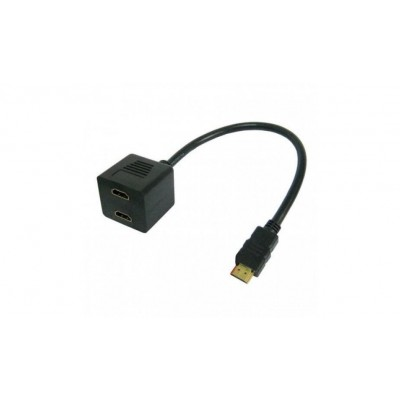 Cavo Video Splitter HDMI™ M a 2 x HDMI™ F - Techly - ICOC HDMI-F-002-6