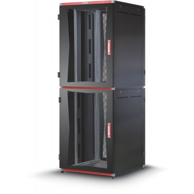 "Armadio Server Rack 19"" 800x1000 2x20 Unita' Nero serie MultiSPACE - Techly Professional - I-CASE EU-22081BK-1"
