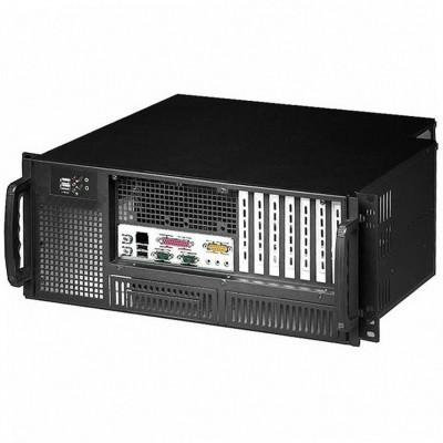 "Chassis Industriale Rack 19""/Desktop 4U Ultra Compatto Nero - Techly - I-CASE MP-P4HX-BLK6-1"