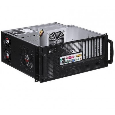 "Chassis Industriale Rack 19""/Desktop 4U Ultra Compatto Nero - Techly - I-CASE MP-P4HX-BLK6-2"