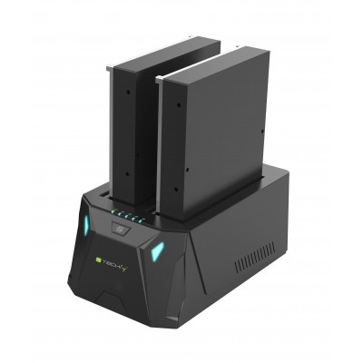 "Docking Station USB 3.0 Doppio Slot per HDD SATA 2.5""/3.5"" Gaming - Techly Np - I-CASE SATA-TST52-1"