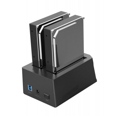 "Docking Station USB 3.0 Doppio Slot per HDD SATA 2.5""/3.5"" Gaming - Techly Np - I-CASE SATA-TST52-2"