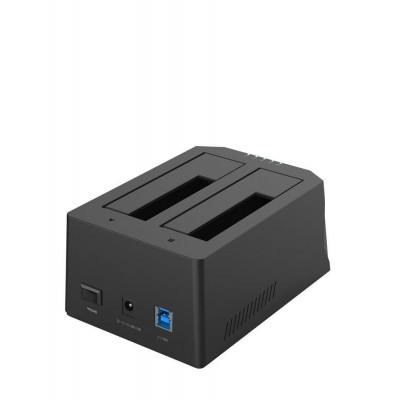 "Docking Station USB 3.0 Doppio Slot per HDD SATA 2.5""/3.5"" Gaming - Techly Np - I-CASE SATA-TST52-3"