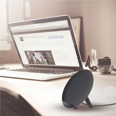 Caricabatterie Wireless Fast Qi Stand con Rivestimento UV 10W Nero - Techly - I-CHARGE-WRKUV-10W-7