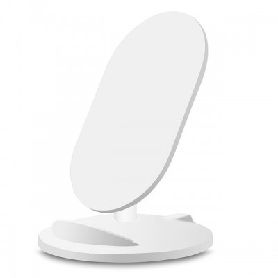 Caricabatterie Wireless Qi Stand Stondato 5W Bianco - Techly - I-CHARGE-WRM-5W-1