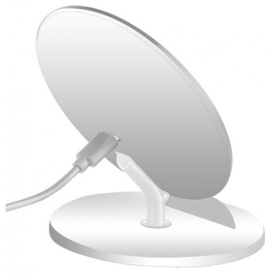 Caricabatterie Wireless Qi Stand Verticale 5W Bianco - Techly - I-CHARGE-WRQ-5WH-3