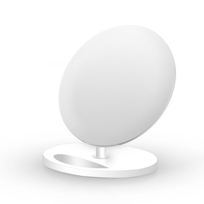 Caricabatterie Wireless Qi Stand Verticale 5W Bianco - Techly - I-CHARGE-WRQ-5WH-1