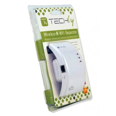 Ripetitore Wireless 300N (Range Extender) con WPS - Techly - I-WL-REPEATER-12