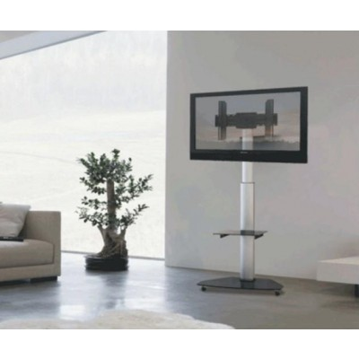 "Supporto a Pavimento con Mensola Trolley TV LCD/LED/Plasma 37-70"" - Techly - ICA-TR3-4"