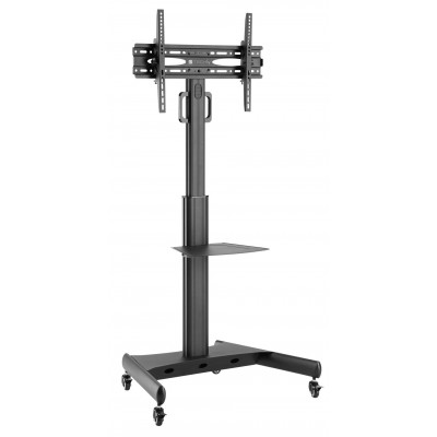 """Supporto a Pavimento con Mensola Trolley TV LCD/LED 32-65"""" - Techly - ICA-TR35-1"""