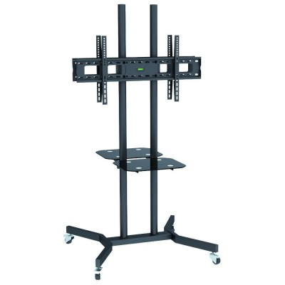 """Supporto a Pavimento con Mensole Trolley 2 TV LCD/LED/Plasma 37-70"""" - Techly - ICA-TR7-1"""
