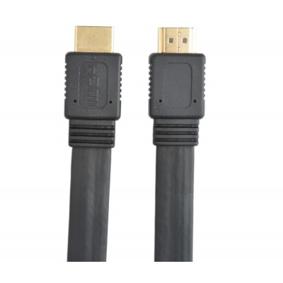 Cavo HDMI 2.0 High Speed con Ethernet A/A M/M Piatto 2m - Techly - ICOC HDMI2-FE-020TY-2