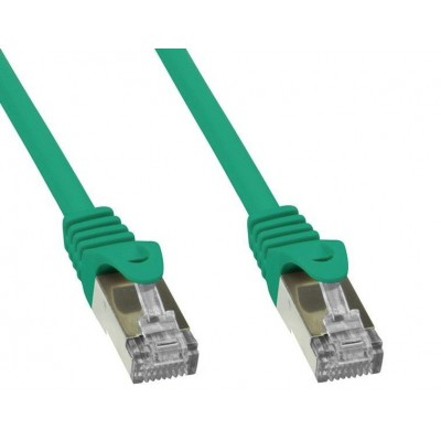Cavo di rete Patch in rame Cat.6 Verde SFTP LSZH 0,5m - Techly Professional - ICOC LS6-005-GREET-1