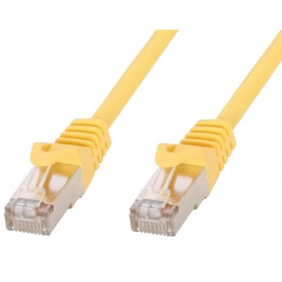 Cavo di rete Patch in rame Cat.6 Giallo SFTP LSZH 0,5m - Techly Professional - ICOC LS6-005-YET-1